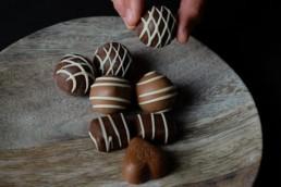 chocolate filled truffles