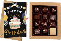 chocolates with message card