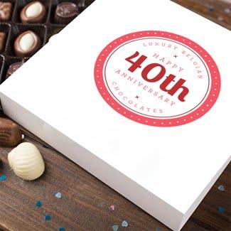 customised-40th-anniversary-chocolate gift