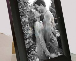 Personalised wooden Photo frame with picture